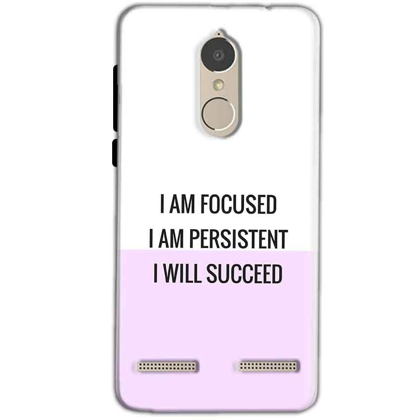 Lenovo K6 Power Mobile Covers Cases I am Focused - Lowest Price - Paybydaddy.com