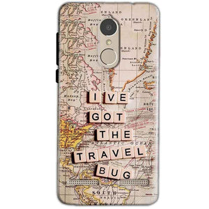 Lenovo K6 Power Mobile Covers Cases Live Travel Bug - Lowest Price - Paybydaddy.com