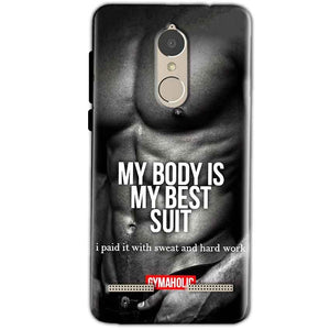 Lenovo K6 Power Mobile Covers Cases My Body is my best suit - Lowest Price - Paybydaddy.com