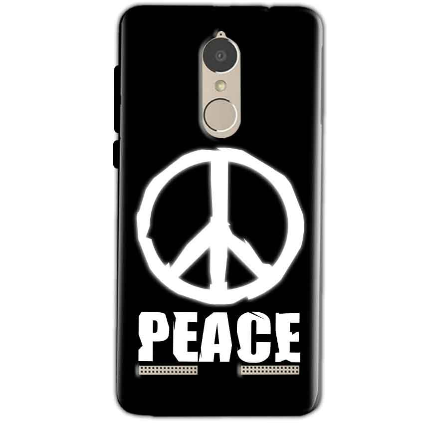 Lenovo K6 Power Mobile Covers Cases Peace Sign In White - Lowest Price - Paybydaddy.com