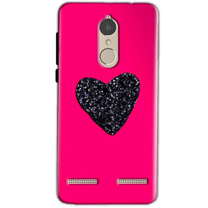 Lenovo K6 Power Mobile Covers Cases Pink Glitter Heart - Lowest Price - Paybydaddy.com