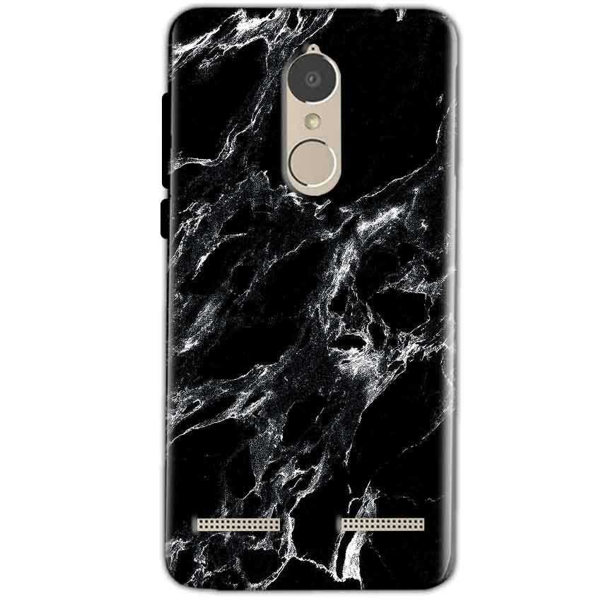 Lenovo K6 Power Mobile Covers Cases Pure Black Marble Texture - Lowest Price - Paybydaddy.com