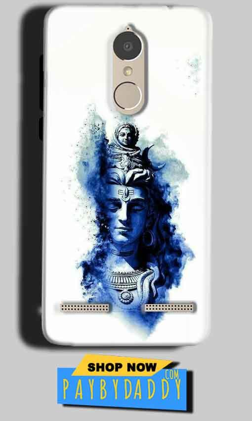 Lenovo K6 Power Mobile Covers Cases Shiva Blue White - Lowest Price - Paybydaddy.com