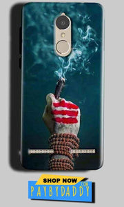 Lenovo K6 Power Mobile Covers Cases Shiva Hand With Clilam - Lowest Price - Paybydaddy.com