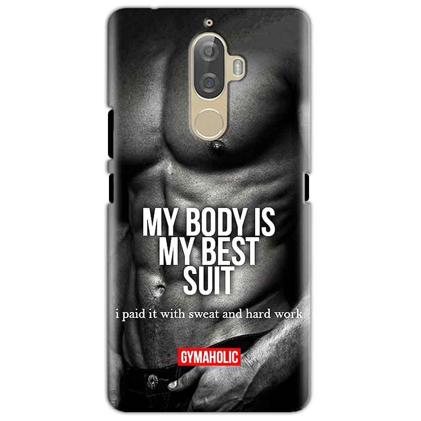 Lenovo K8 Mobile Covers Cases My Body is my best suit - Lowest Price - Paybydaddy.com