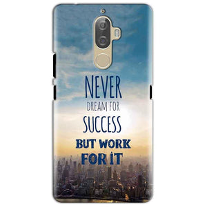 Lenovo K8 Mobile Covers Cases Never Dreams For Success But Work For It Quote - Lowest Price - Paybydaddy.com