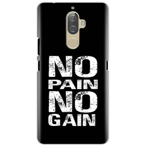 Lenovo K8 Mobile Covers Cases No Pain No Gain Black And White - Lowest Price - Paybydaddy.com