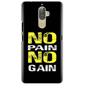Lenovo K8 Mobile Covers Cases No Pain No Gain Yellow Black - Lowest Price - Paybydaddy.com