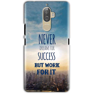 Lenovo K8 Note Mobile Covers Cases Never Dreams For Success But Work For It Quote - Lowest Price - Paybydaddy.com