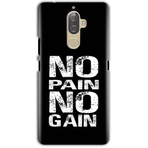 Lenovo K8 Note Mobile Covers Cases No Pain No Gain Black And White - Lowest Price - Paybydaddy.com