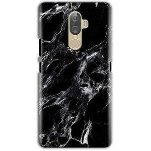 Lenovo K8 Note Mobile Covers Cases Pure Black Marble Texture - Lowest Price - Paybydaddy.com