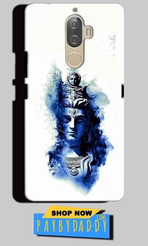 Lenovo K8 Note Mobile Covers Cases Shiva Blue White - Lowest Price - Paybydaddy.com