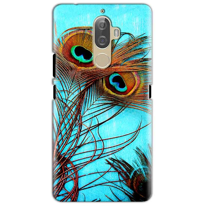 Lenovo K8 Mobile Covers Cases Peacock blue wings - Lowest Price - Paybydaddy.com
