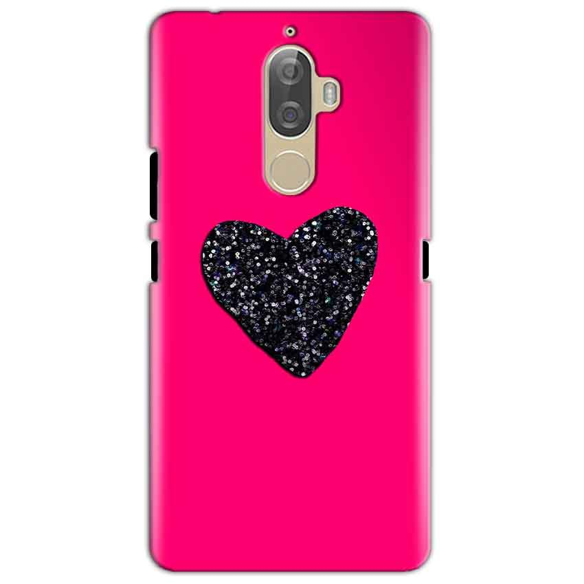 Lenovo K8 Mobile Covers Cases Pink Glitter Heart - Lowest Price - Paybydaddy.com