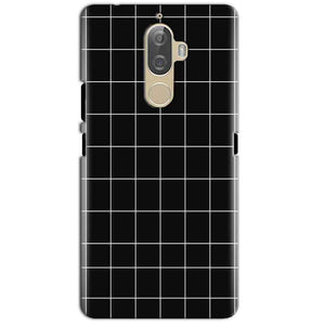 Lenovo K8 Plus Mobile Covers Cases Black with White Checks - Lowest Price - Paybydaddy.com
