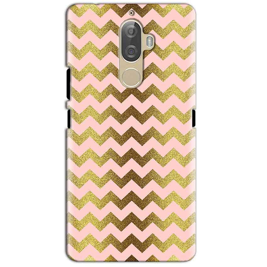 Lenovo K8 Plus Mobile Covers Cases Golden Zig Zag Pattern - Lowest Price - Paybydaddy.com