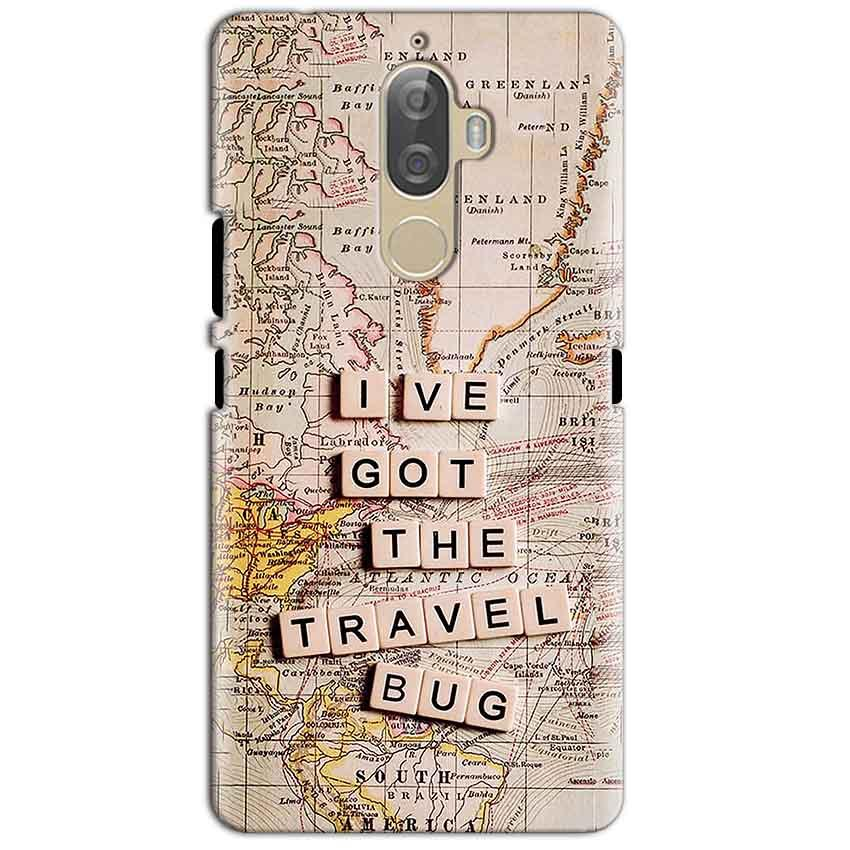 Lenovo K8 Plus Mobile Covers Cases Live Travel Bug - Lowest Price - Paybydaddy.com