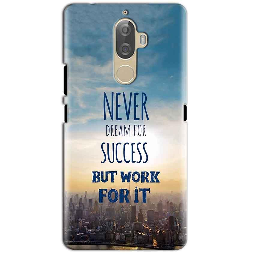 Lenovo K8 Plus Mobile Covers Cases Never Dreams For Success But Work For It Quote - Lowest Price - Paybydaddy.com