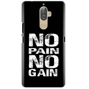 Lenovo K8 Plus Mobile Covers Cases No Pain No Gain Black And White - Lowest Price - Paybydaddy.com