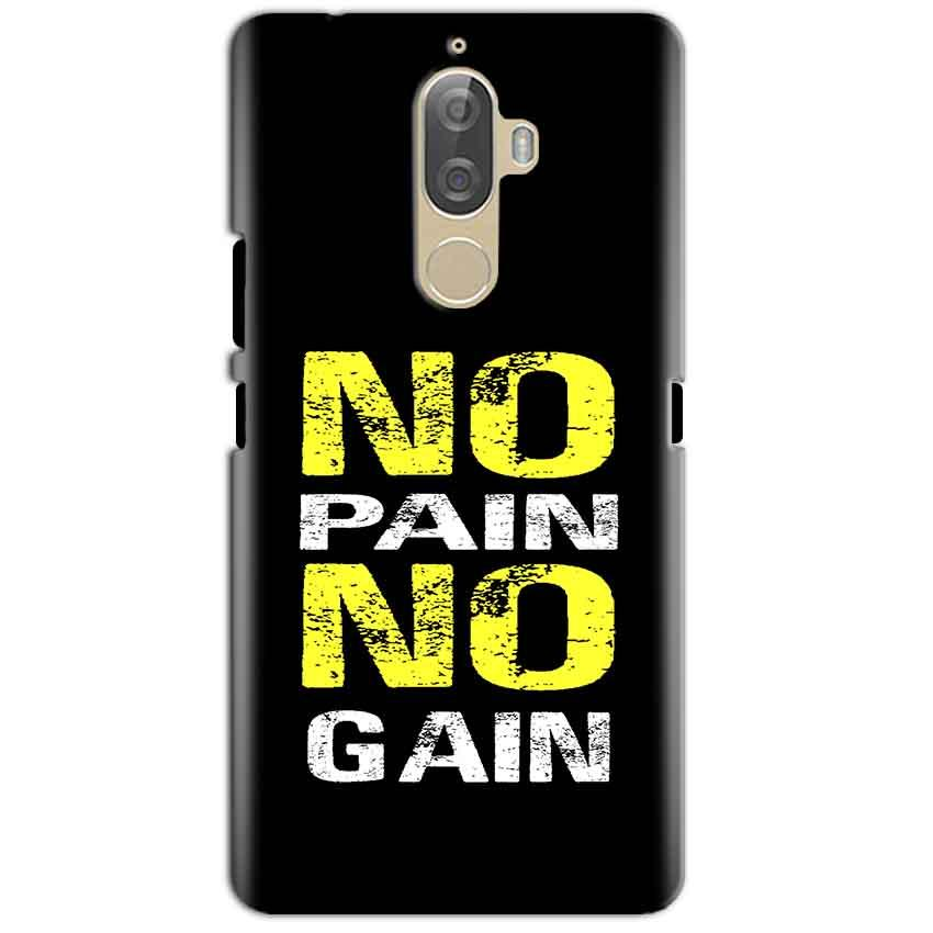 Lenovo K8 Plus Mobile Covers Cases No Pain No Gain Yellow Black - Lowest Price - Paybydaddy.com