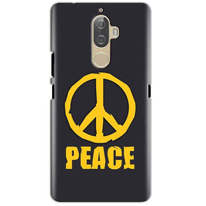 Lenovo K8 Plus Mobile Covers Cases Peace Blue Yellow - Lowest Price - Paybydaddy.com