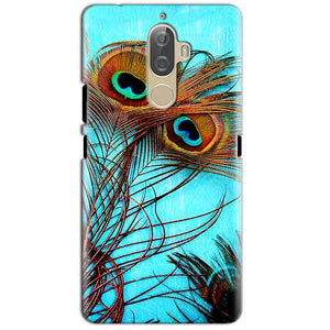 Lenovo K8 Plus Mobile Covers Cases Peacock blue wings - Lowest Price - Paybydaddy.com