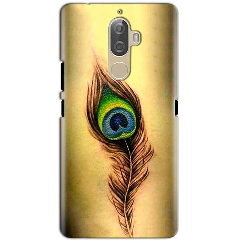 Lenovo K8 Plus Mobile Covers Cases Peacock coloured art - Lowest Price - Paybydaddy.com