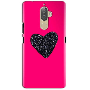 Lenovo K8 Plus Mobile Covers Cases Pink Glitter Heart - Lowest Price - Paybydaddy.com