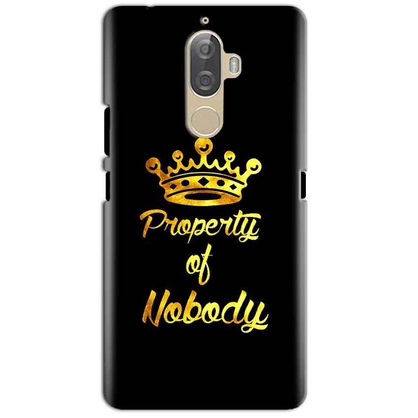 Lenovo K8 Plus Mobile Covers Cases Property of nobody with Crown - Lowest Price - Paybydaddy.com