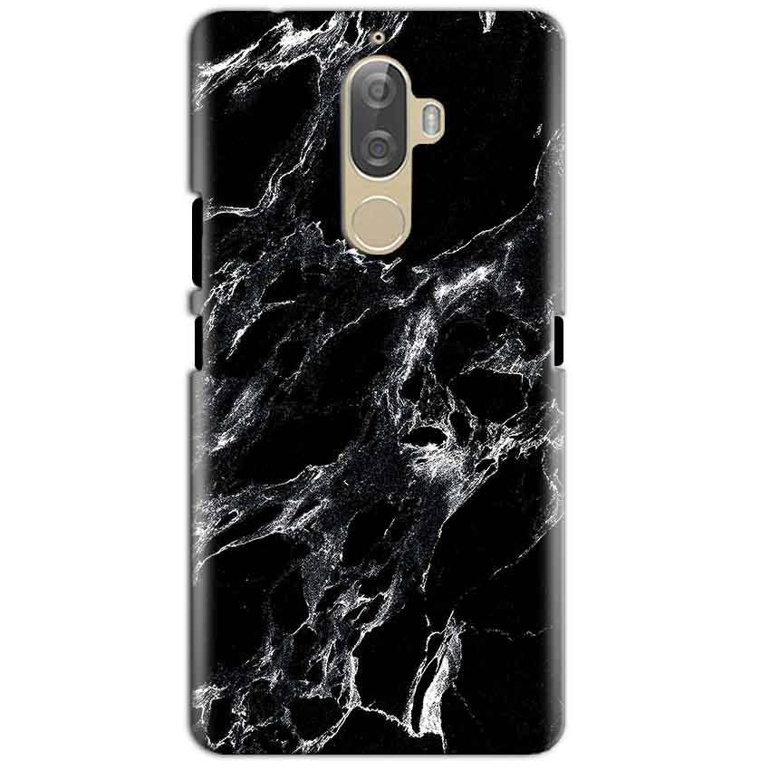 Lenovo K8 Plus Mobile Covers Cases Pure Black Marble Texture - Lowest Price - Paybydaddy.com