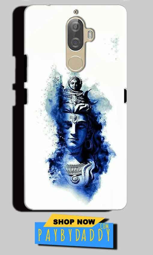 Lenovo K8 Plus Mobile Covers Cases Shiva Blue White - Lowest Price - Paybydaddy.com
