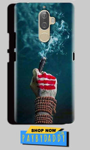 Lenovo K8 Plus Mobile Covers Cases Shiva Hand With Clilam - Lowest Price - Paybydaddy.com