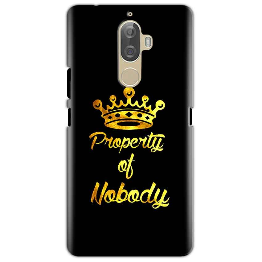 Lenovo K8 Mobile Covers Cases Property of nobody with Crown - Lowest Price - Paybydaddy.com