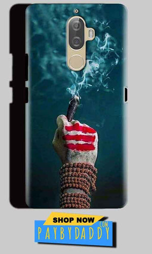Lenovo K8 Mobile Covers Cases Shiva Hand With Clilam - Lowest Price - Paybydaddy.com
