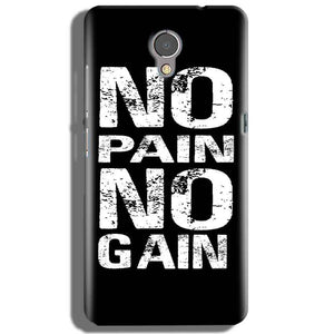 Lenovo P2 Mobile Covers Cases No Pain No Gain Black And White - Lowest Price - Paybydaddy.com
