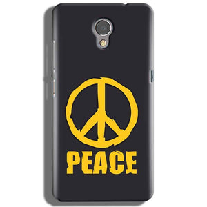 Lenovo P2 Mobile Covers Cases Peace Blue Yellow - Lowest Price - Paybydaddy.com