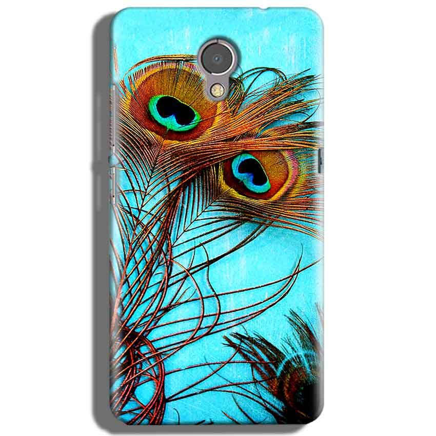 Lenovo P2 Mobile Covers Cases Peacock blue wings - Lowest Price - Paybydaddy.com