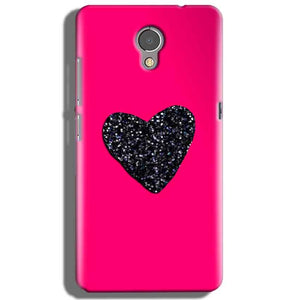 Lenovo P2 Mobile Covers Cases Pink Glitter Heart - Lowest Price - Paybydaddy.com