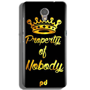 Lenovo P2 Mobile Covers Cases Property of nobody with Crown - Lowest Price - Paybydaddy.com