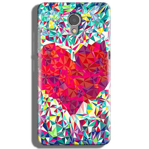 Lenovo P2 Mobile Covers Cases heart Prisma design - Lowest Price - Paybydaddy.com