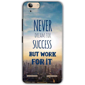 Lenovo Vibe K5 Plus Mobile Covers Cases Never Dreams For Success But Work For It Quote - Lowest Price - Paybydaddy.com