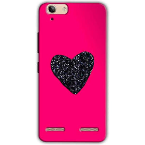 Lenovo Vibe K5 Plus Mobile Covers Cases Pink Glitter Heart - Lowest Price - Paybydaddy.com
