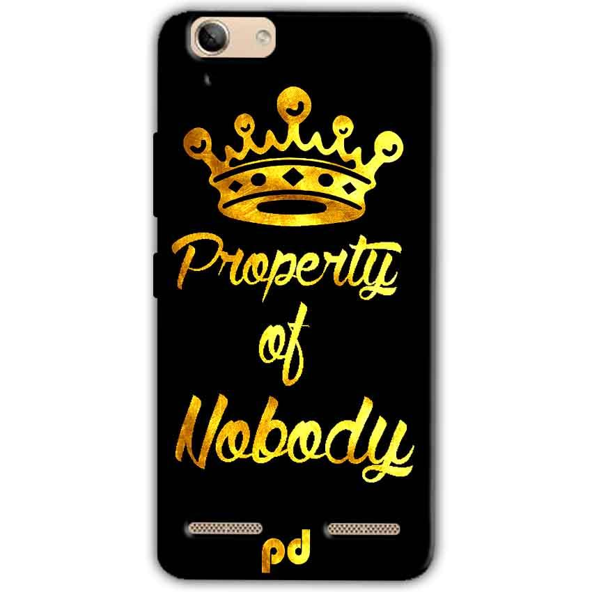 Lenovo Vibe K5 Plus Mobile Covers Cases Property of nobody with Crown - Lowest Price - Paybydaddy.com