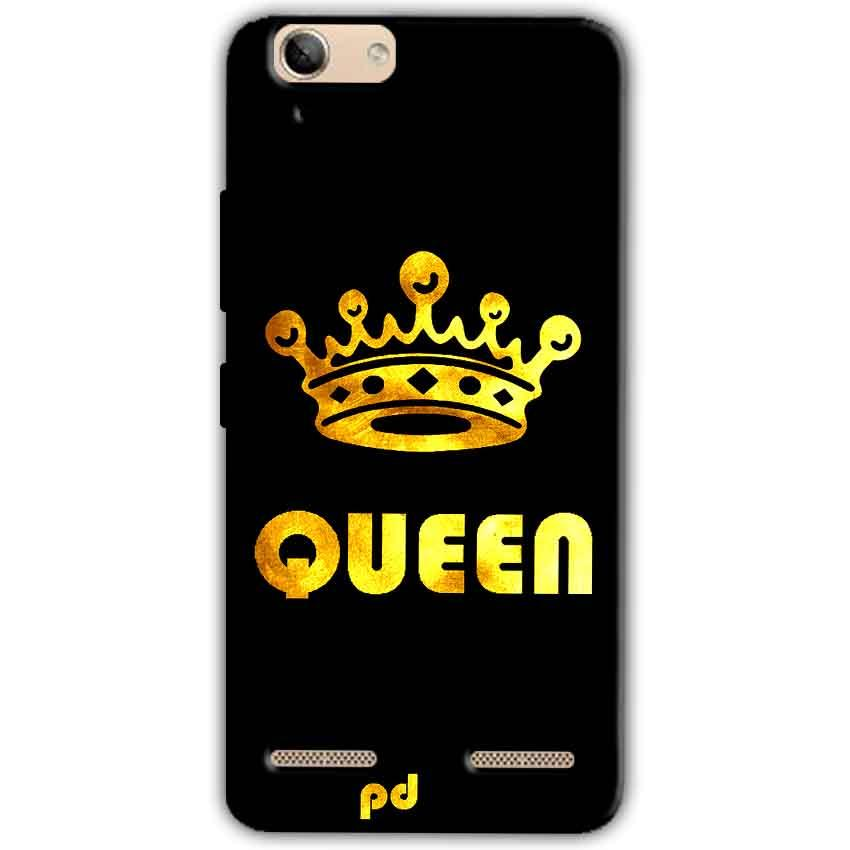 Lenovo Vibe K5 Plus Mobile Covers Cases Queen With Crown in gold - Lowest Price - Paybydaddy.com