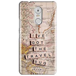Lenovo Vibe K6 Note Mobile Covers Cases Live Travel Bug - Lowest Price - Paybydaddy.com