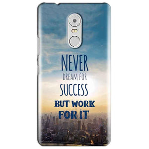 Lenovo Vibe K6 Note Mobile Covers Cases Never Dreams For Success But Work For It Quote - Lowest Price - Paybydaddy.com