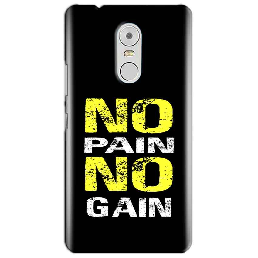 Lenovo Vibe K6 Note Mobile Covers Cases No Pain No Gain Yellow Black - Lowest Price - Paybydaddy.com