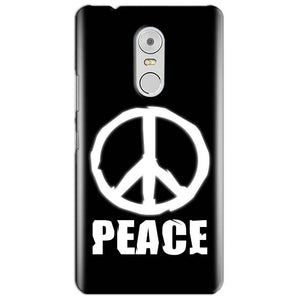 Lenovo Vibe K6 Note Mobile Covers Cases Peace Sign In White - Lowest Price - Paybydaddy.com