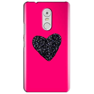Lenovo Vibe K6 Note Mobile Covers Cases Pink Glitter Heart - Lowest Price - Paybydaddy.com