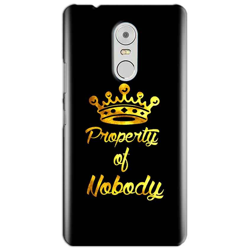 Lenovo Vibe K6 Note Mobile Covers Cases Property of nobody with Crown - Lowest Price - Paybydaddy.com